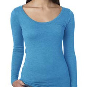 Ladies' Triblend Long-Sleeve Scoop